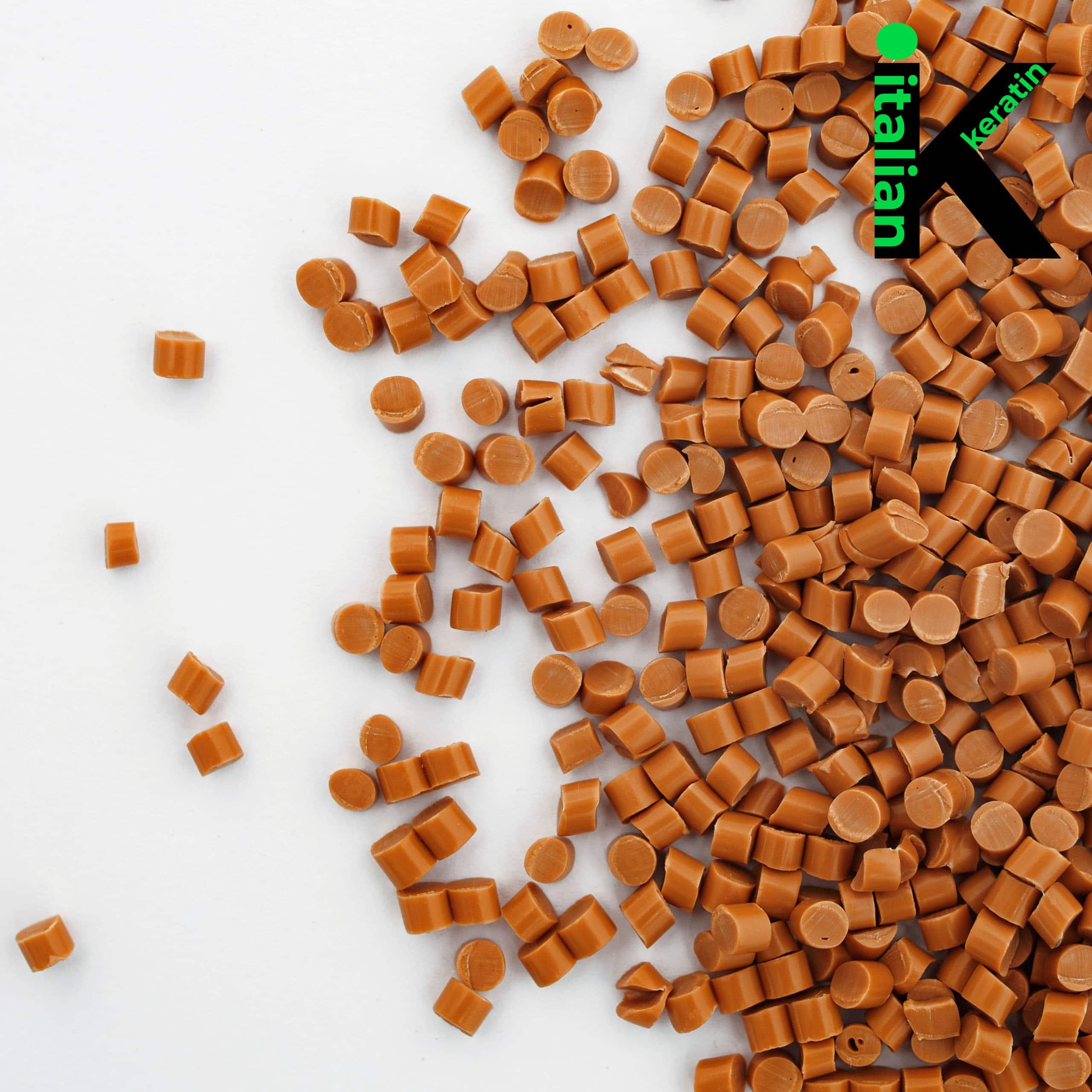 Italian Keratin Light Brown Glue Granules