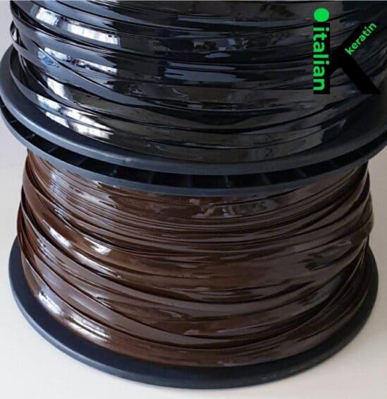 Brown Black Italian Keratin Rolls 10 kg